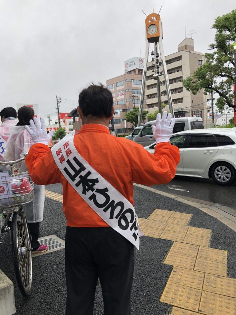 名鉄青山駅にて